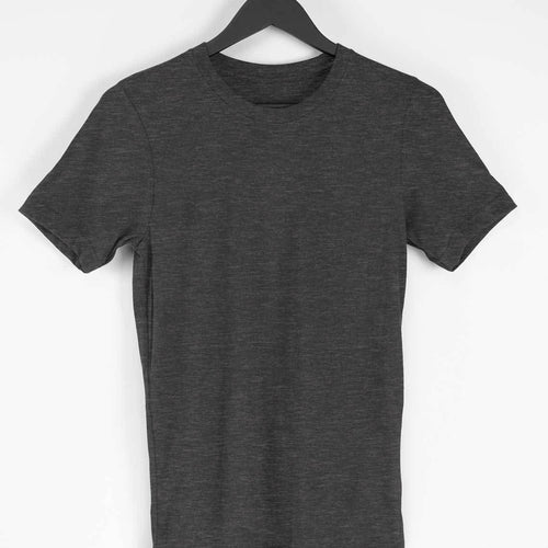Charcoal Grey Plain T-shirt - Short- Sleeve-Men's Plain T-shirt - Tee-Zoo