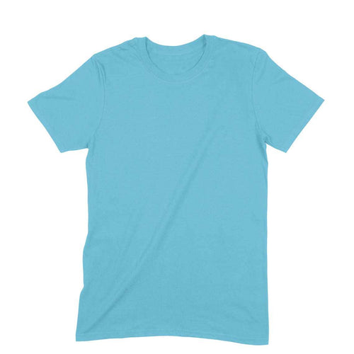 Sky Blue Plain T-shirt - Short- Sleeve-Men's Plain T-shirt - Tee-Zoo