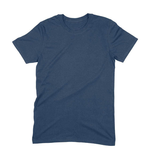 Navy Blue Plain T-shirt - Short- Sleeve-Men's Plain T-shirt - Tee-Zoo