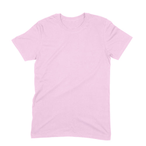 Pink Plain T-shirt - Short- Sleeve-Men's Plain T-shirt - Tee-Zoo