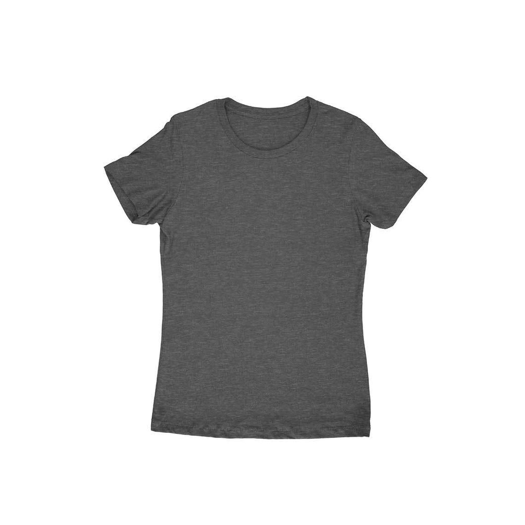 Charcoal Grey Plain T-shirt - Short- Sleeve-Women's Plain T-shirt - Tee-Zoo