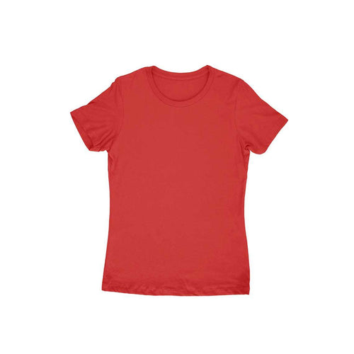 Red Plain T-shirt - Short- Sleeve-Women's Plain T-shirt - Tee-Zoo