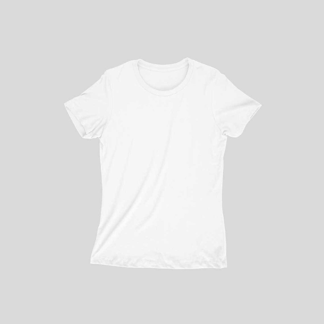 White Plain T-shirt - Short- Sleeve-Women's Plain T-shirt - Tee-Zoo