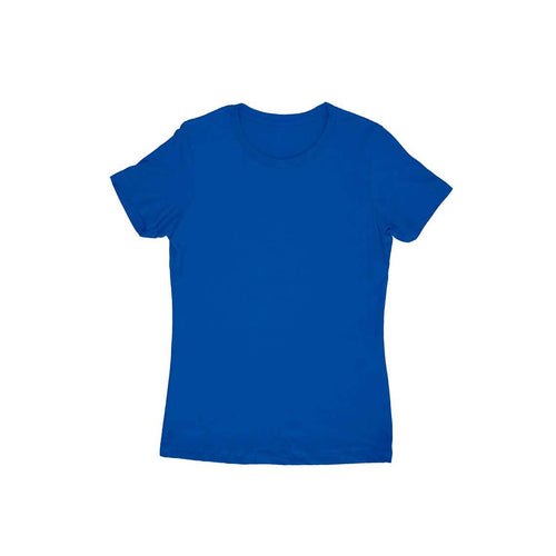 Royal Blue Plain T-shirt - Short- Sleeve-Women's Plain T-shirt - Tee-Zoo