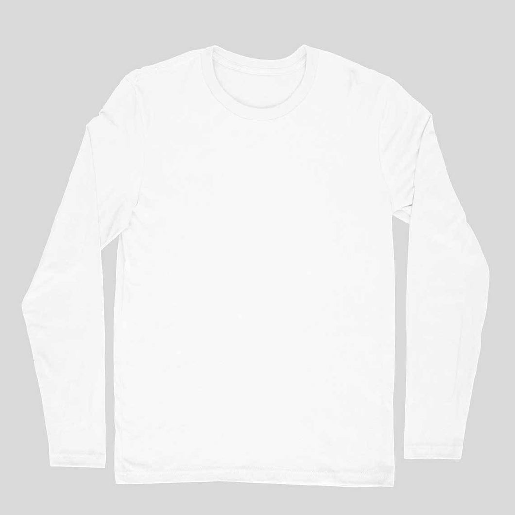 White Plain T-shirt - Round-Full-Sleeve-Men's Plain T-shirt - Tee-Zoo