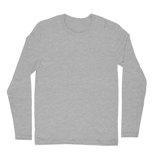 Melange Grey Plain T-shirt - Round-Full-Sleeve-Men's Plain T-shirt - Tee-Zoo