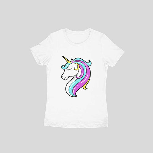 Unicorn 1004 - Half-sleeves-Women's- T-shirt - Tee-Zoo