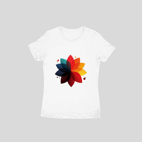Lotus Art - Short- Sleeve-Women's T-shirt - Tee-Zoo