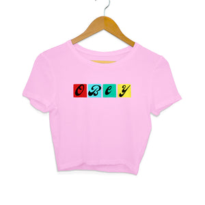 BTS Obey - Women's Crop Top - Tee-Zoo