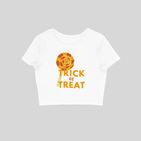 Trick or Treat 101 - Women's Crop Top - Tee-Zoo
