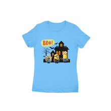 Load image into Gallery viewer, Halloween Minions - Short-Sleeve Women's T-Shirt - Tee-Zoo
