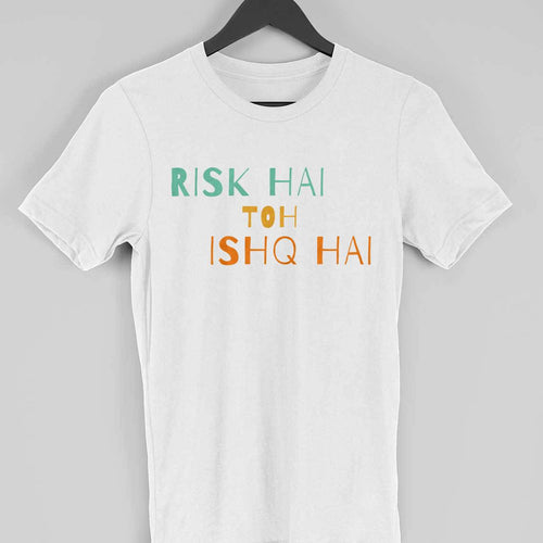 Risk hai toh Ishq Hai - Short-Sleeve Men's T-Shirt - Tee-Zoo