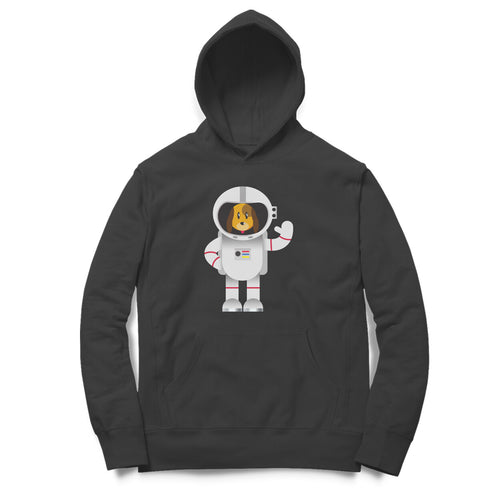 Astronaut Dog - Full Sleeve Men's Hoodie - Tee-Zoo