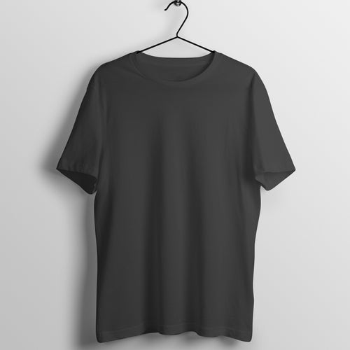 Solid Black Tshirt - Short Sleeve Men's T-Shirt - Tee-Zoo
