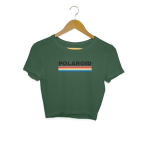 Polaroid Texted Top - Women's Crop Top-Tee-Zoo