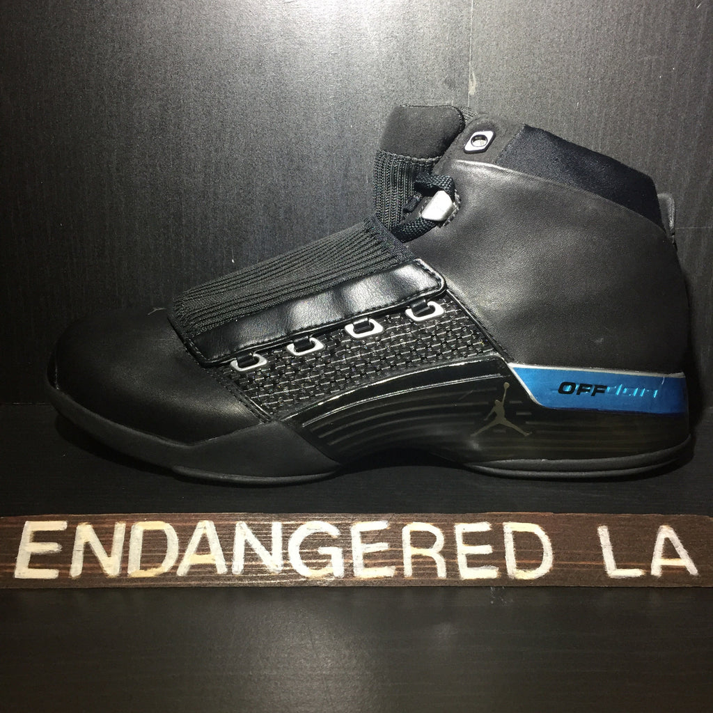 Air Jordan 17 Black/Blue Sz 10