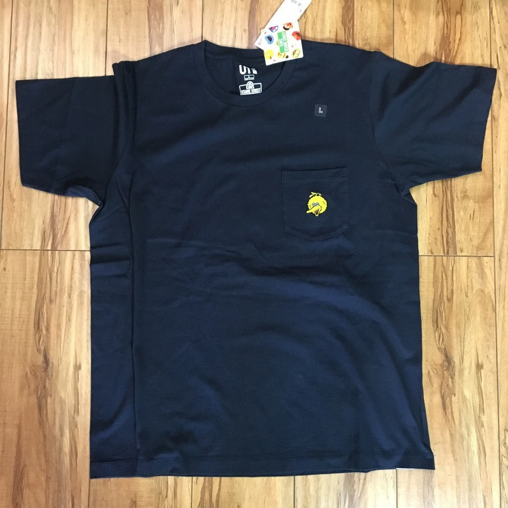 Uniqlo Kaws Big Bird Pocket Tee Navy Sz XL