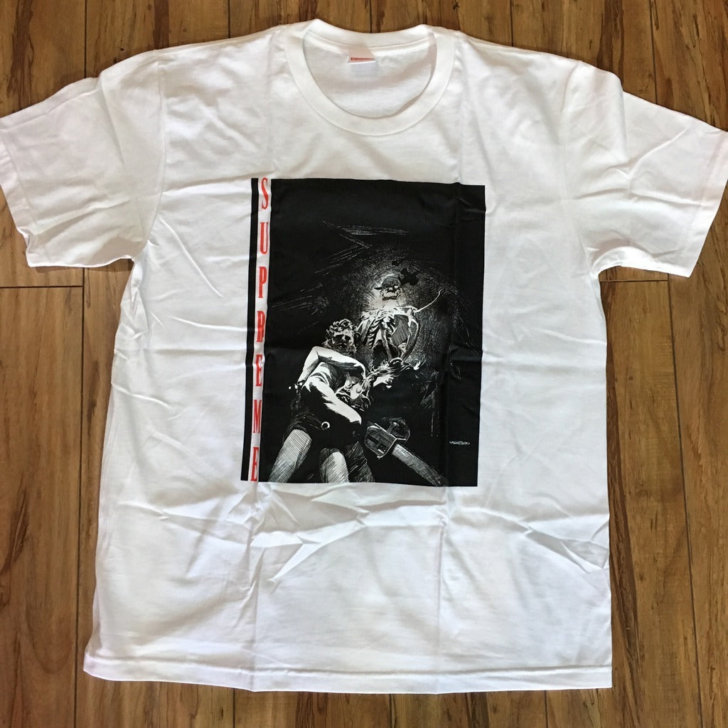 Supreme Chainsaw Tee White F/W 17 Sz M