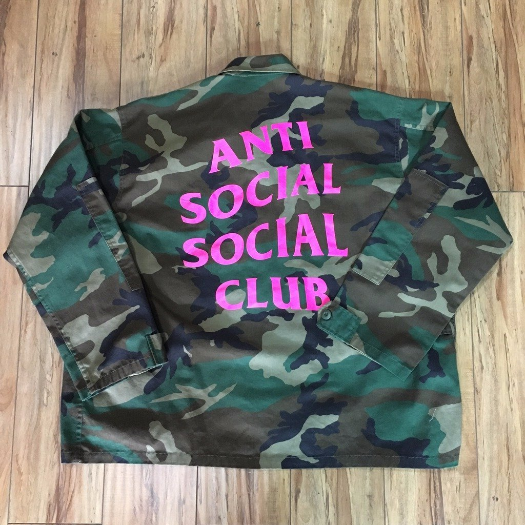 Anti Social Social Club Camo Jacket sz XL