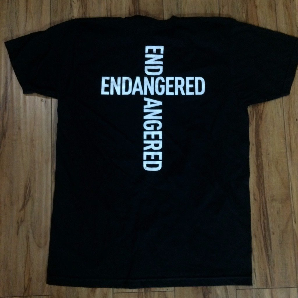 .Endangered Cross Logo Sz L