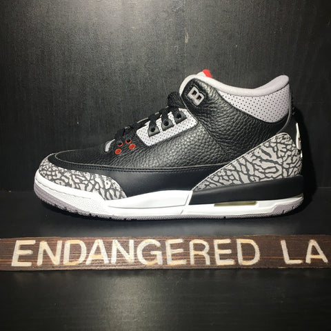 Air Jordan 3 Black Cement 18' Sz 5.5