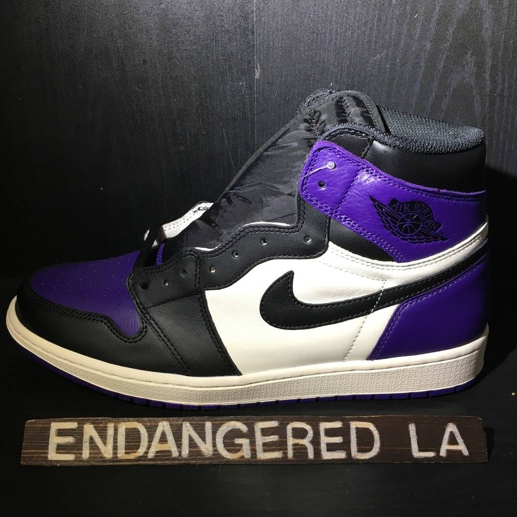 Air Jordan 1 Court Purple Sz 12