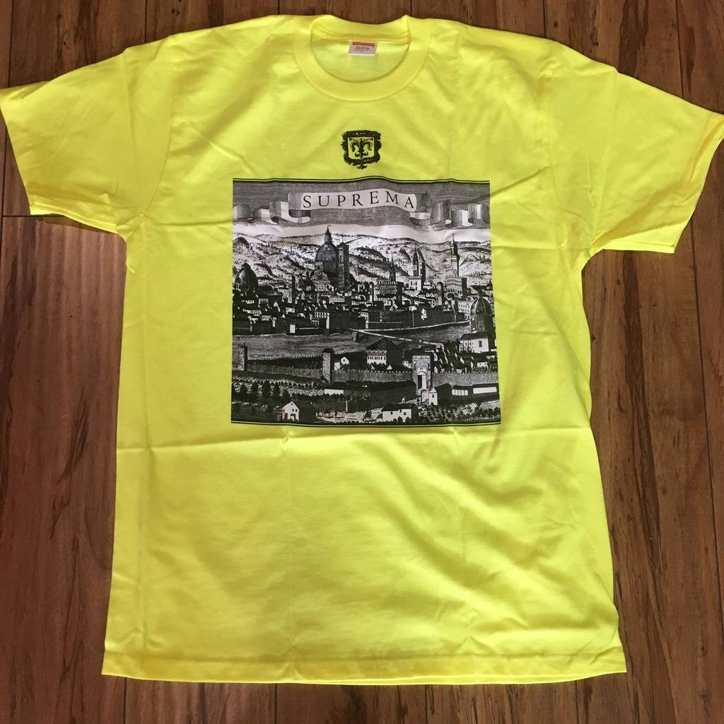 Supreme Fiorenza Tee Bright Yellow S/S 18' Sz L