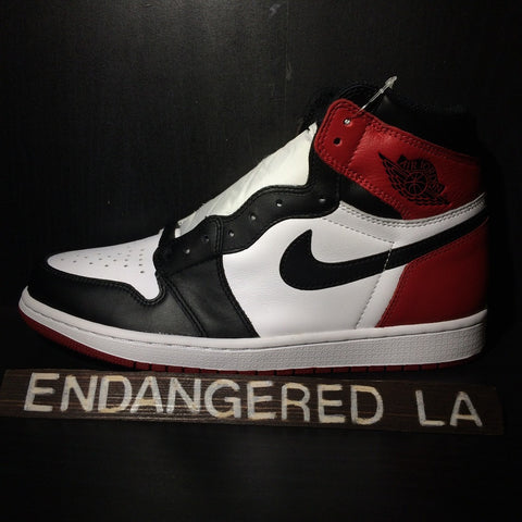 Air Jordan 1 Black Toe Sz 10