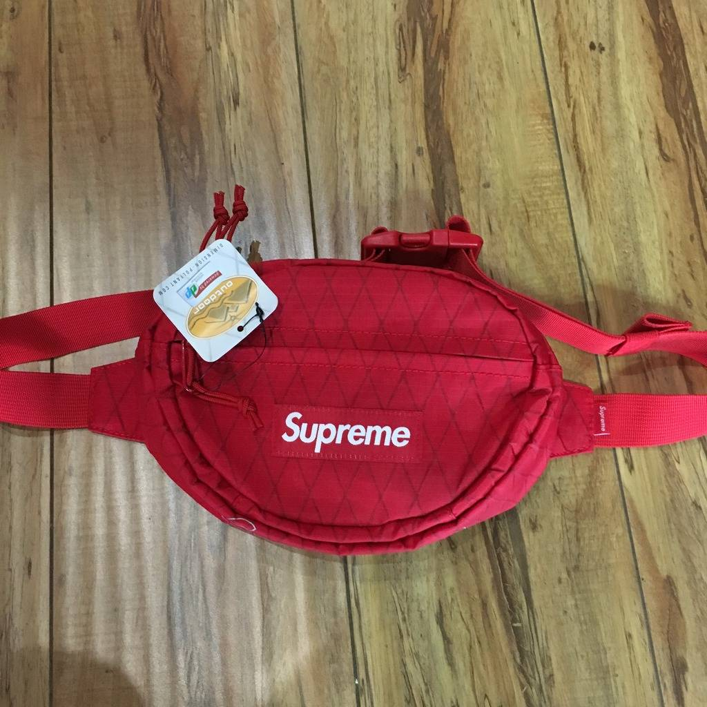Supreme Waist Bag Red F/W 18'