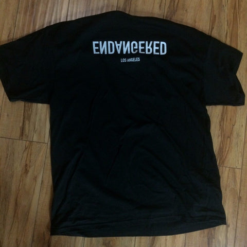.Endangered Reflection Logo Tee Sz L