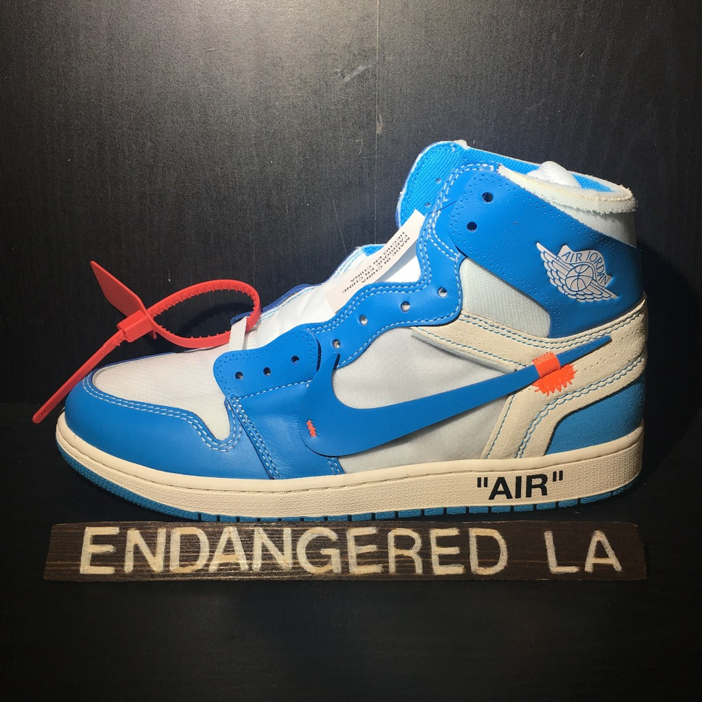 Air Jordan 1 Off White University Blue Sz 10.5