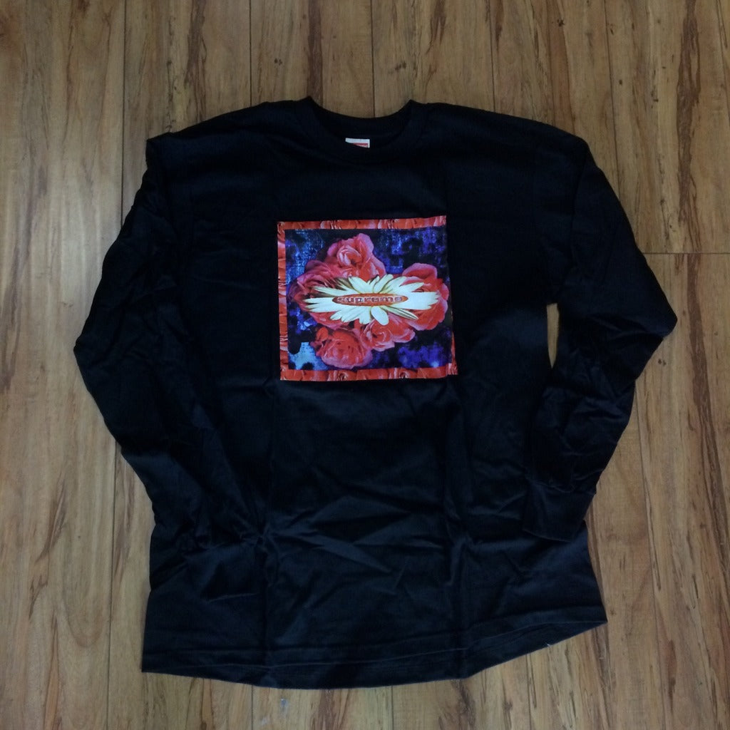 Supreme L/S Bloom Tee Black F/W 17' Sz L