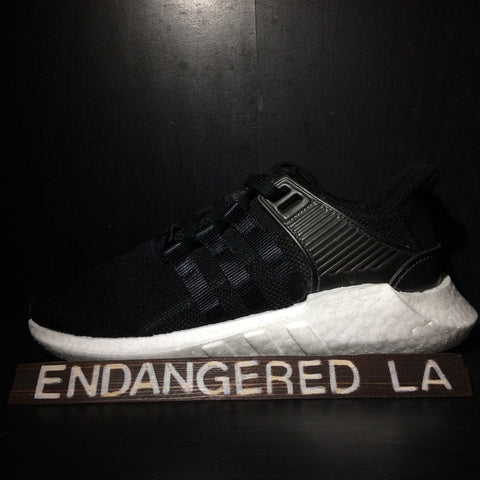 Adidas EQT 93/17 Milled Leather Black Sz 6.5