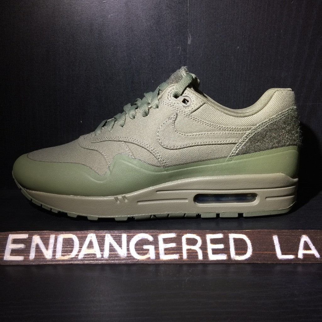8b7509c4bf3916 ... new zealand nike air max 1 patch steel green sz 9.5 98e4a 8942a