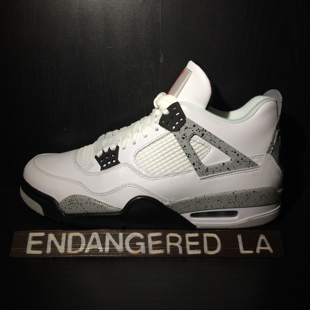Air Jordan 4 White Cement 16' Sz 10.5