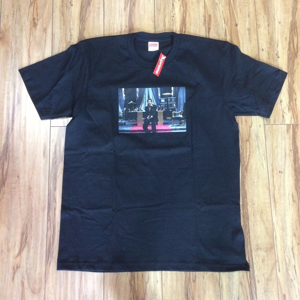 "Supreme Scarface ""Friend"" Tee Black F/W 17' Sz M"