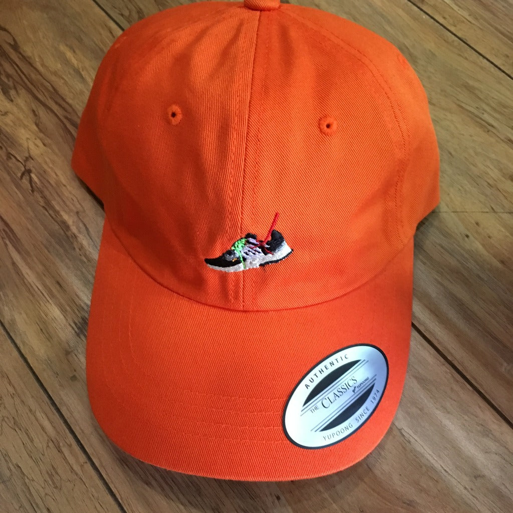 Embroidered Off White Presto Hat Orange