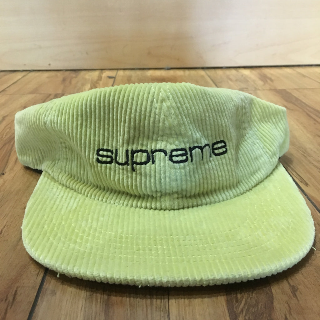Supreme Hat Corduroy Compact 6 Panel Green S/S 19'