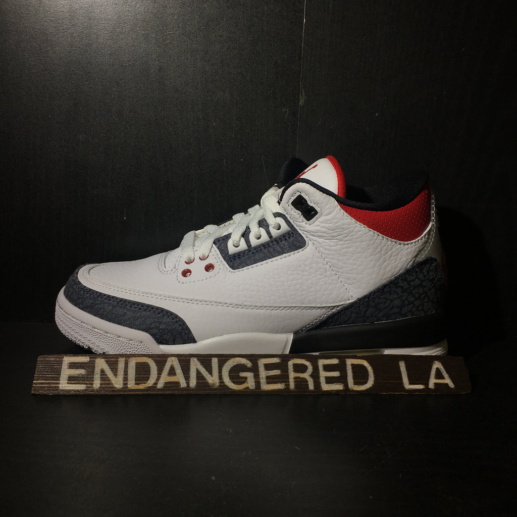 Air Jordan 3 Fire Red Denim Sz 5.5