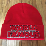 Supreme Beanie Outline Red F/W 19'