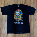 Bape Tee Pop Art Ape Face Black Sz L