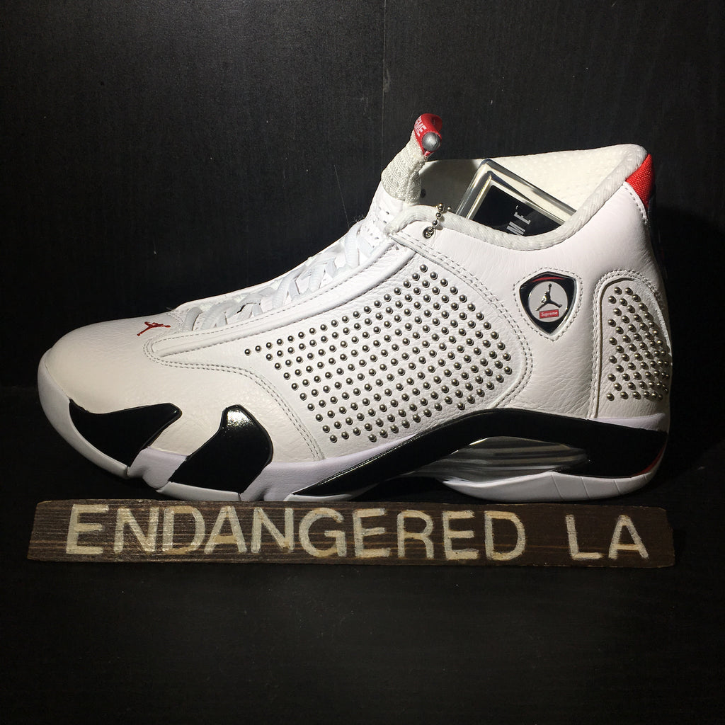Air Jordan 14 Supreme White Sz 9.5