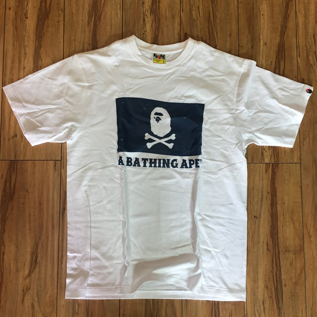 Bape Pirate Flag Tee White Sz M