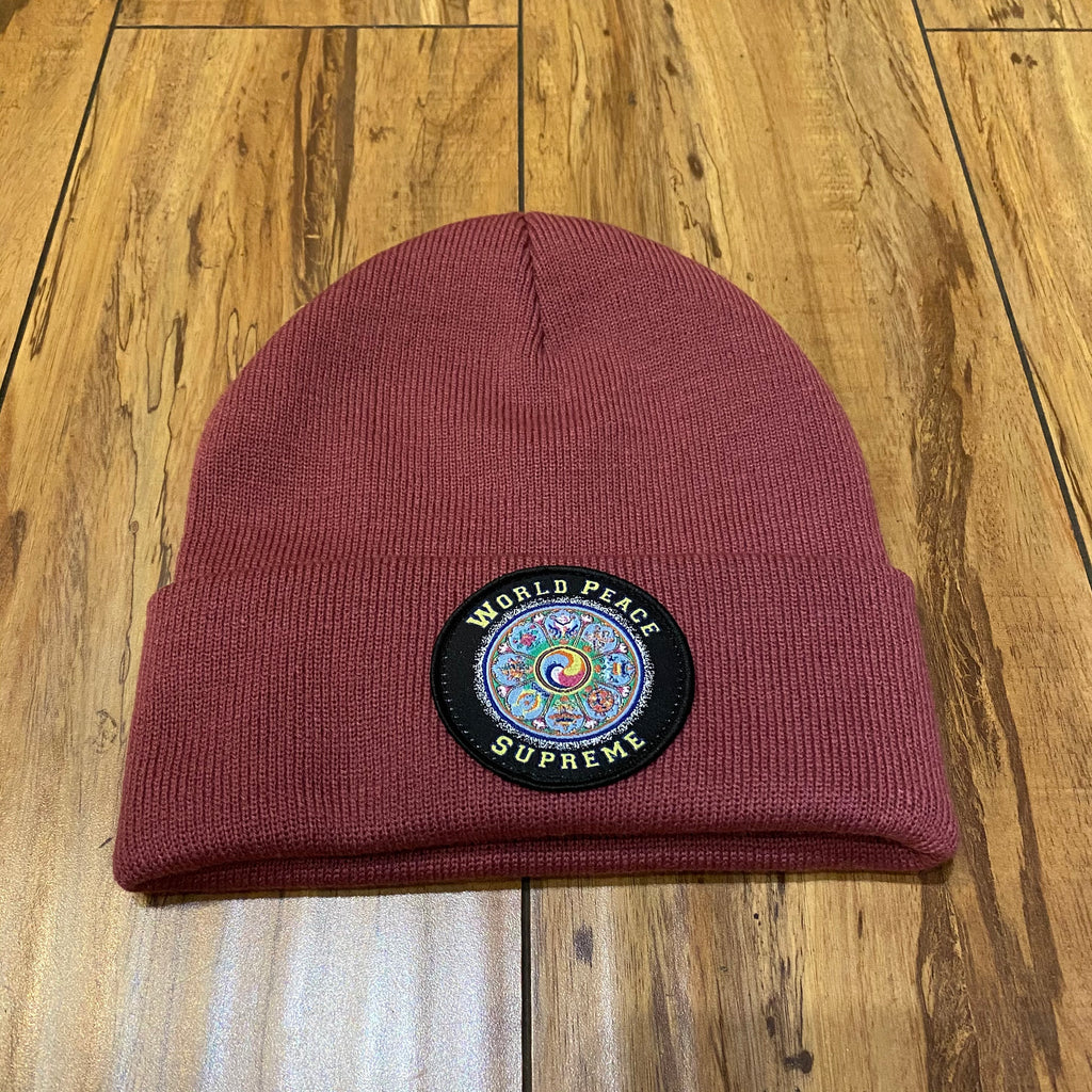 Supreme Beanie World Peace Dusty Magenta F/W 20'