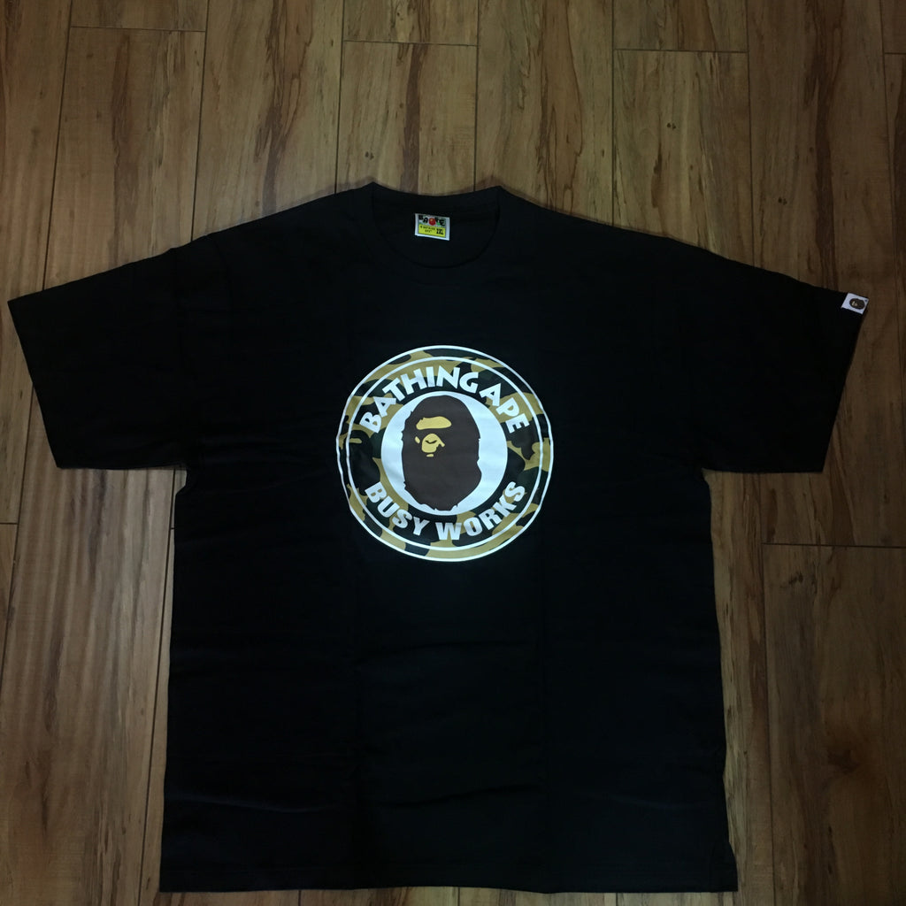 Bape Busy Works Tee Black Sz 2XL