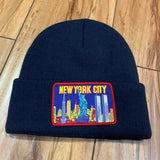 Supreme Beanie NY Patch Navy F/W 19'