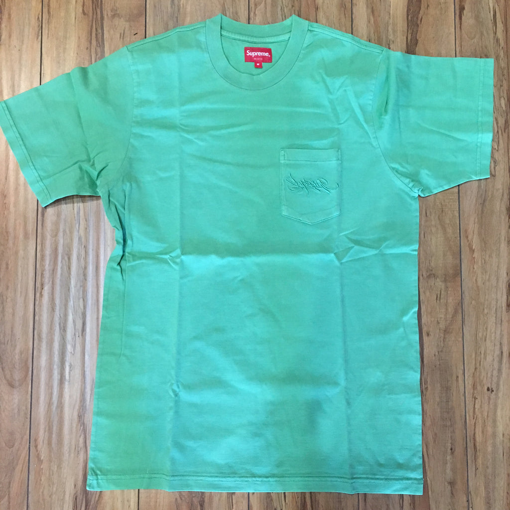 Supreme Overdyed Pocket Tee Green S/S 19' Sz M
