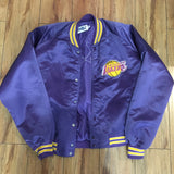 Lakers Vintage Satin Varsity Jacket Sz M