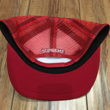 Supreme Hat Worldwide Mesh Back 5-Panel Red S/S 20'