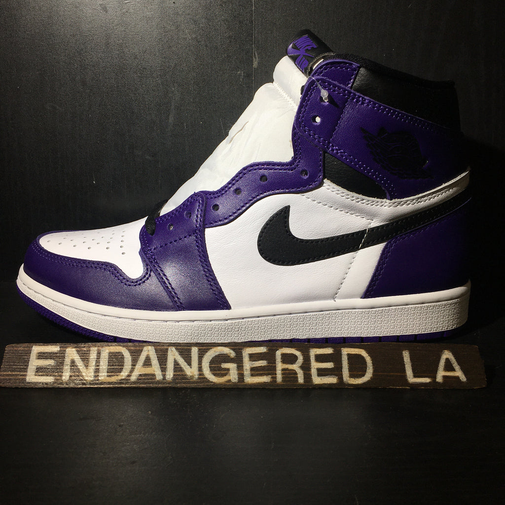 Air Jordan 1 Court Purple 2.0 Sz 9.5